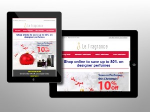 Email marketing for Le Fragrance